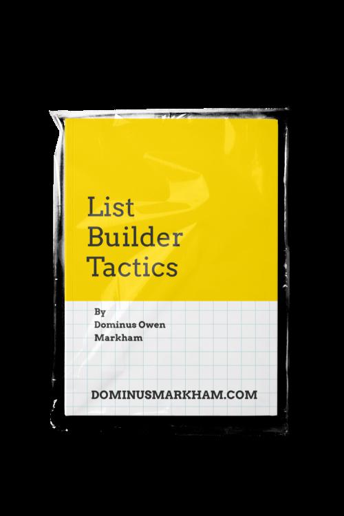 List Builder Tactics